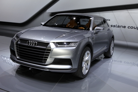 The new Audi Crosslane Concept displayed at the 2012 Paris Motor Show on September 30, 2012 in Paris Stock Photo - 15485528