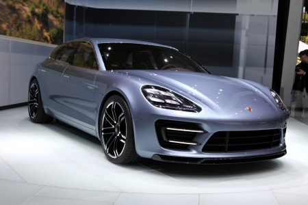 The new Porsche Panamera Sport Turismo Concept displayed at the 2012 Paris Motor Show on September 30, 2012 in Paris Éditoriale