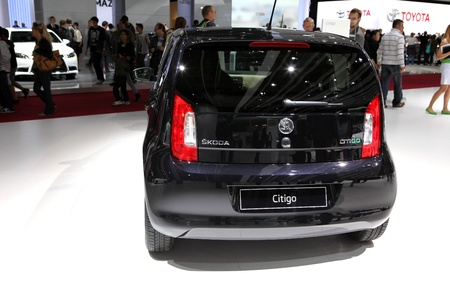 The new Skoda Citigo displayed at the 2012 Paris Motor Show on September 30, 2012 in Paris