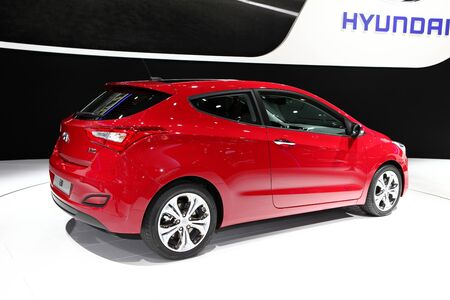 The new Hyundai i30 displayed at the 2012 Paris Motor Show on September 30, 2012 in Paris