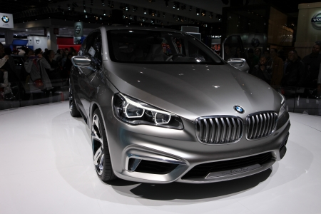 The BMW Active Tourer Concept displayed at the 2012 Paris Motor Show on September 30, 2012 in Paris