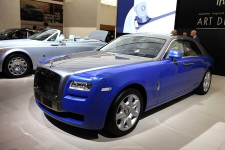 Rolls-Royce car displayed at the 2012 Paris Motor Show on September 30, 2012 in Paris