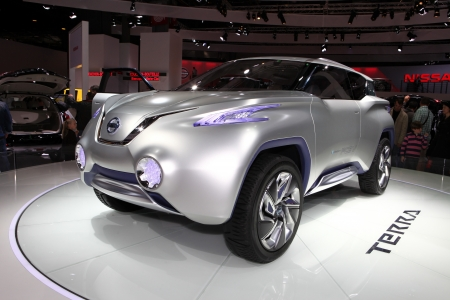 The Nissan TeRRA SUV Concept displayed at the 2012 Paris Motor Show on September 30, 2012 in Paris