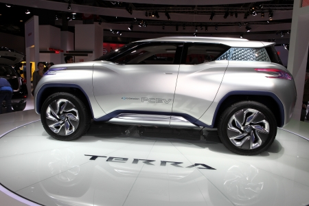 The Nissan Terra Suv Concept Displayed At The 2012 Paris Motor