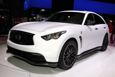 vettel:  The Infinity FX35 Vettel Edition displayed at the 2012 Paris Motor Show on September 30, 2012 in Paris Editorial