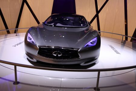 emerge: The Infinity Emerg-E Concept displayed at the 2012 Paris Motor Show on September 30, 2012 in Paris