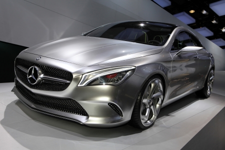 The Mercedes Concept Style Coupe displayed at the 2012 Paris Motor Show on October 14, 2012 in Paris Éditoriale