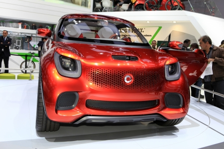The Smart Forstars Concept Displayed At The 2012 Paris Motor Stock