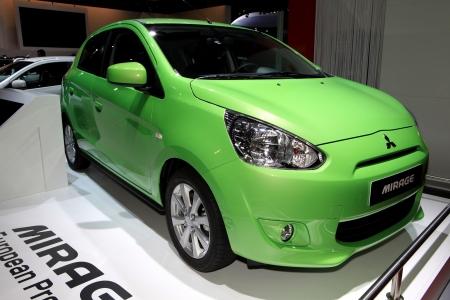 The new Honda Civic displayed at the 2012 Paris Motor Show on October 14, 2012 in Paris