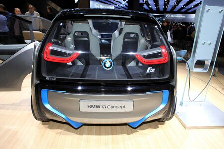 i3: The BMW i3 Concept displayed at the 2012 Paris Motor Show on October 14, 2012 in Paris