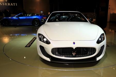 he Maserati GranCabrio MC displayed at the 2012 Paris Motor Show on October 14, 2012 in Paris Éditoriale