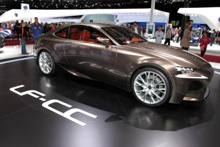 lexus: The Lexus LF-CC Concept displayed at the 2012 Paris Motor Show on September 30, 2012 in Paris
