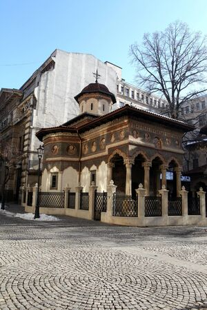 The Stavropoleos church in Bucharest, Romania photo