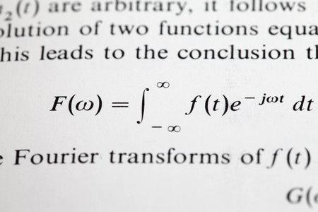 The Fourier transform formula