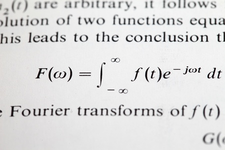 The Fourier transform formula