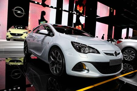 The New Opel Astra OPC displayed at the Paris Motor Show 2014
