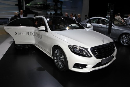 daimler: The new Mercedes S-class displayed at the 2014 Paris Motor Show Editorial