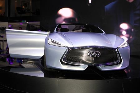 infiniti: The new Infiniti Q80 concept displayed at the 2014 Paris Motor Show Editorial