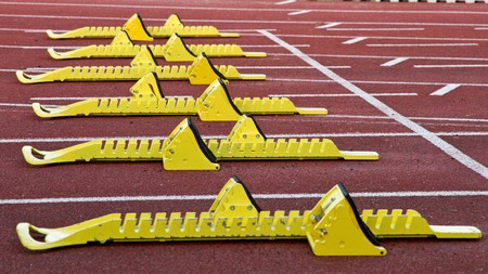 starting blocks in track and field