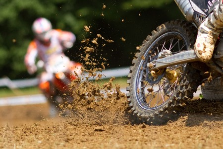 mud in a motocross competition