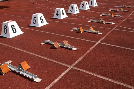 starting line: starting blocks in track and field