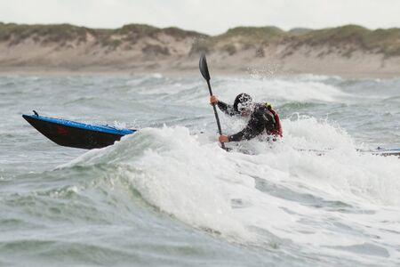 kajaking in the North sea photo