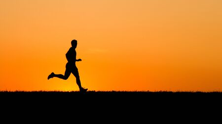 runner in sunset photo
