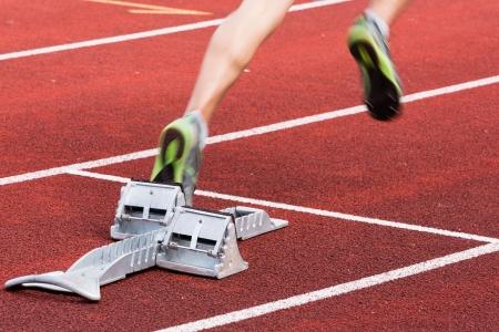 sprint start in track and field Standard-Bild