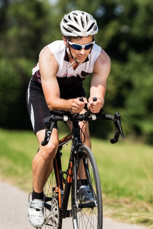 triathlete in cycling photo