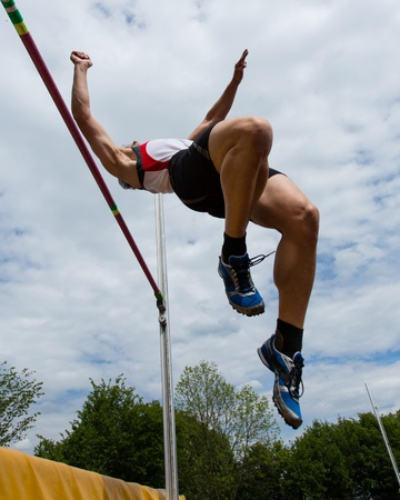high jump in track and field photo