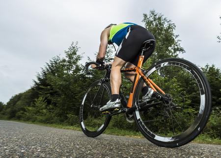 Triathlete in cycling Standard-Bild