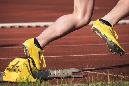 vogelspuren: Sprint-Start in der Leichtathletik