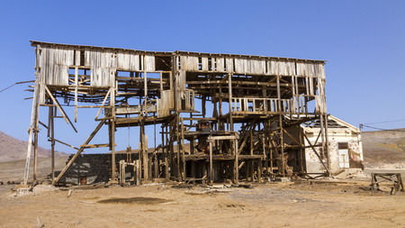 Old factory building on Sal on the Cape Verde Island