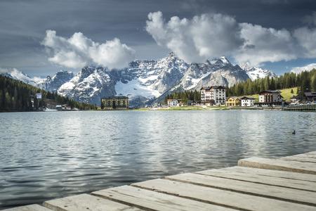 lake misurina: Lake Misurina in the Dolomites