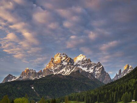 destination scenics: sunrise in the Dolomite Alps