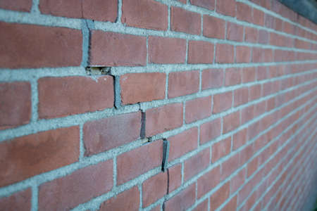 Crack in Brick Wall caused by subsidence