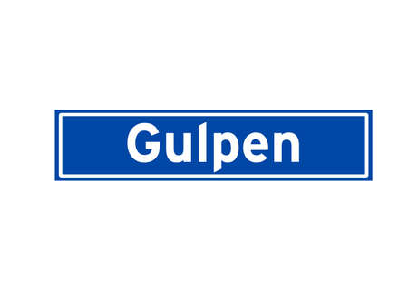 Gulpen isolated Dutch place name sign. City sign from the Netherlands.