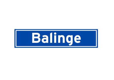 Balinge isolated Dutch place name sign. City sign from the Netherlands.
