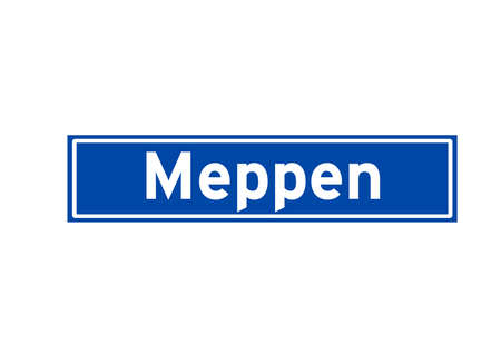 Meppen isolated Dutch place name sign. City sign from the Netherlands.