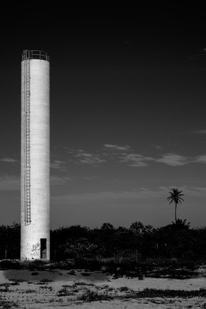 An abandoned water tower in Parajuru (Beberibe) - Ceará (CE) - Brazil Stock Photo