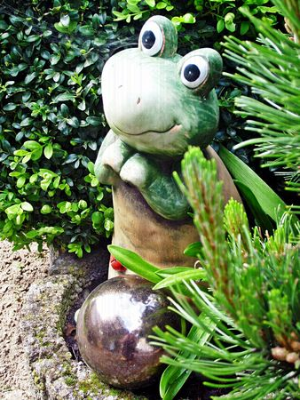 frog with silver ball Stock Photo - 7179736