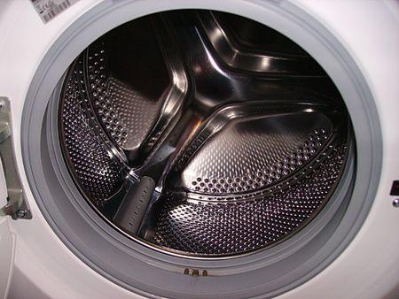 laundromat: washing machine Stock Photo