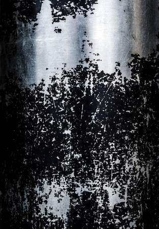 stell: close up of stell with black paint Stock Photo