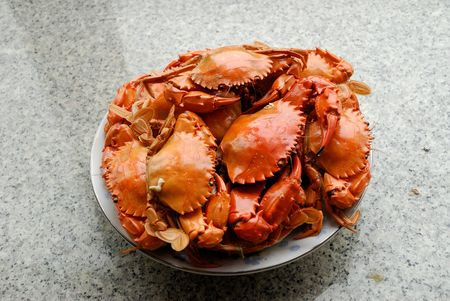 Above the small coastal crab Stock Photo - 5571946