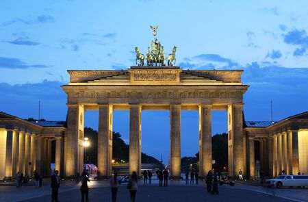 brandenburg gate: brandenburg gate in berlin on evening Stock Photo