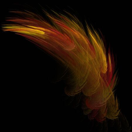 abstract digital feather Stock Photo