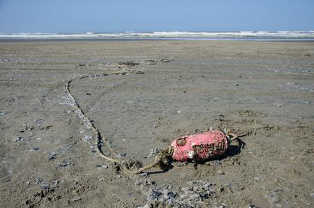 beachcombing: Buoy washed ashore Stock Photo
