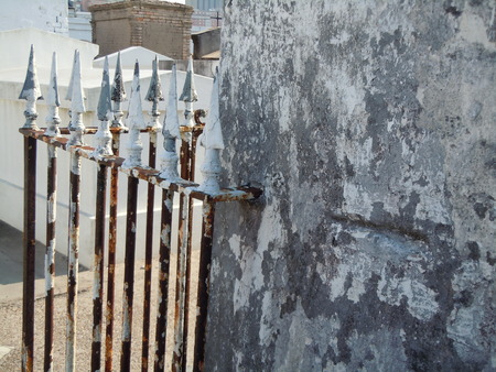 Fenced tomb