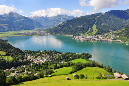 Panorama of Zell am See, Salzburger Land, Salzburg, Austria photo