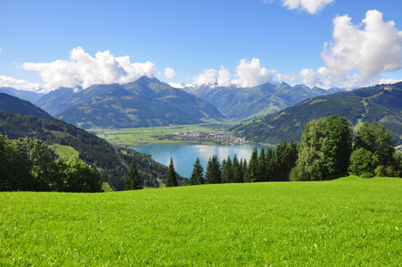 tauern: Panorama of Zell am See, Salzburger Land, Salzburg, Austria